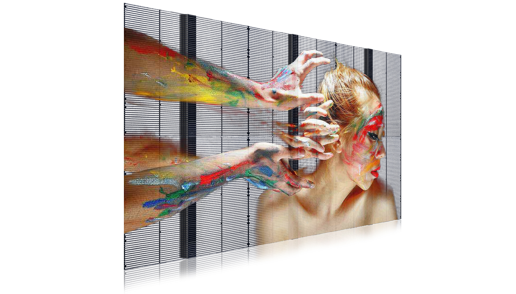 LED interactive transparent screen