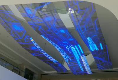 金罡透明屏助力固始青少年活动中心透明屏天幕